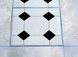 Black And White Vinyl Floor Tiles Self Stick Uk | Tile Design Ideas