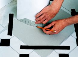 cutting bathroom tile how to lay vinyl floor tiles ideas amp advice diy at b amp q 12613