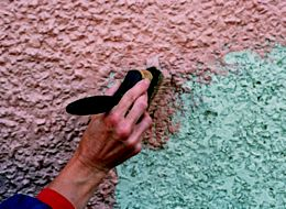 Top Tip Stipple Action Painting Heavily Textured Walls